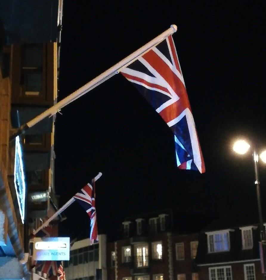 英国の夜の街
