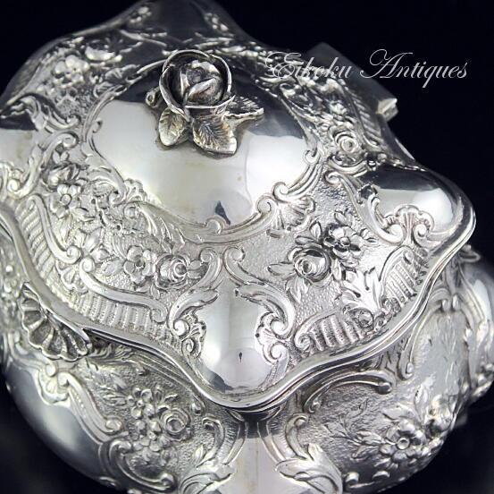 美しい国、英国のアンティーク&カントリーライフ-silver tea caddy