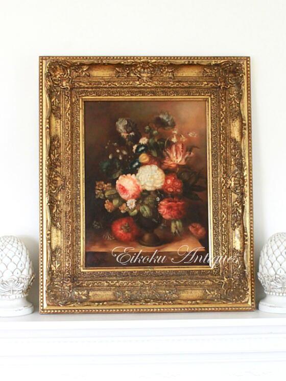 英国アンティークス・オフィシャルブログ-Flora painting